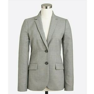 J Crew Sz 12 Lightweight Wool Blazer Jacket Career